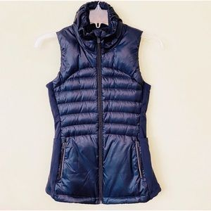 lululemon athletica Jackets & Coats - LULULEMON Black Down For The Run Vest II